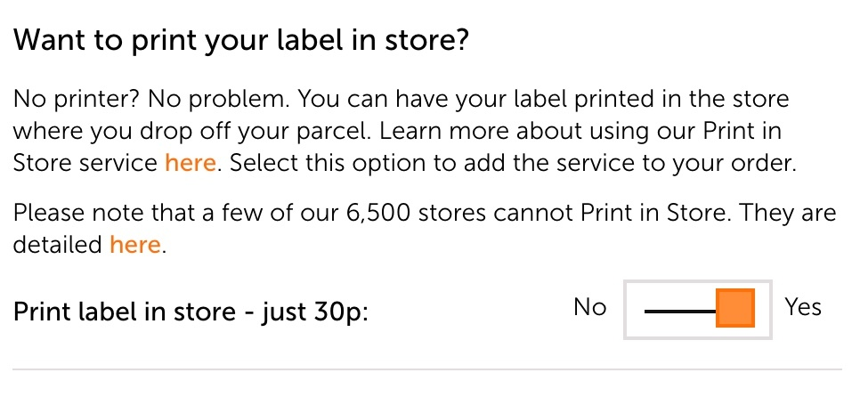 c5b086d36 This service is only available as an add-on when you buy a send label  through our website, and is offered at an extra 30p per label when you see  this option ...